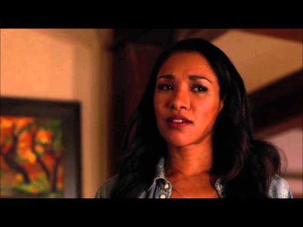 The Flash 2x15 Barry tells Joe and Iris about Earth 2