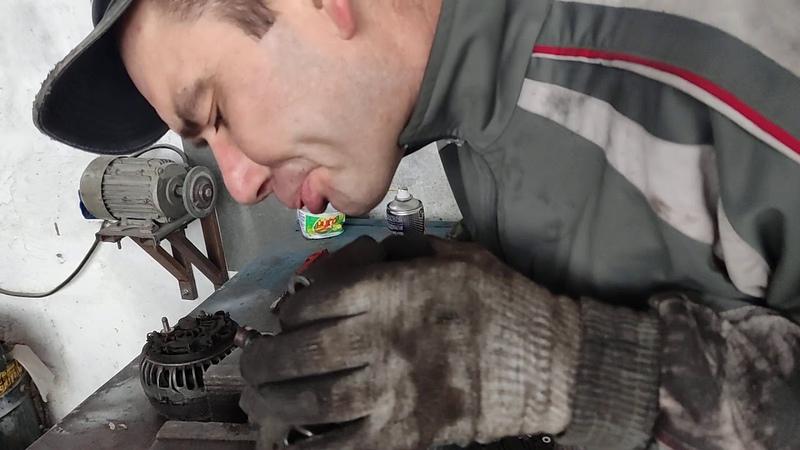 Снятие, дифектовка и ремонт генератора MB Vito 2004 2.1 CDI