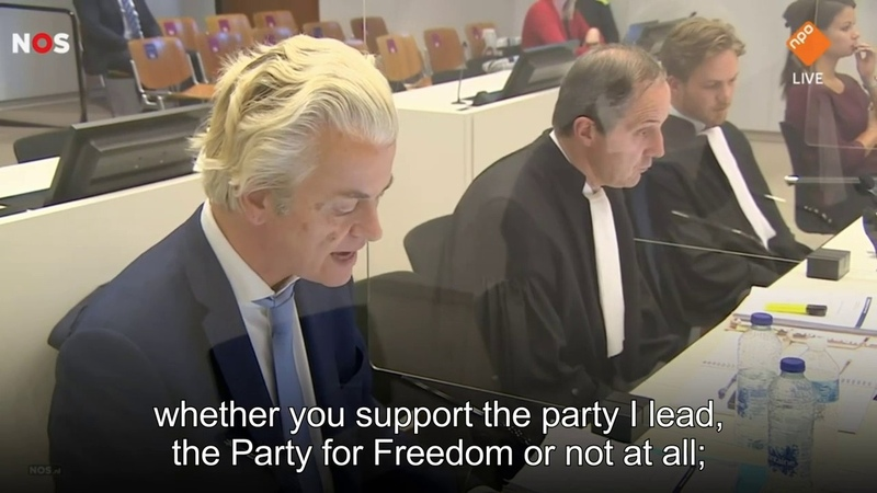 5 Geert Wilders addresses the Court of Justice YouTube