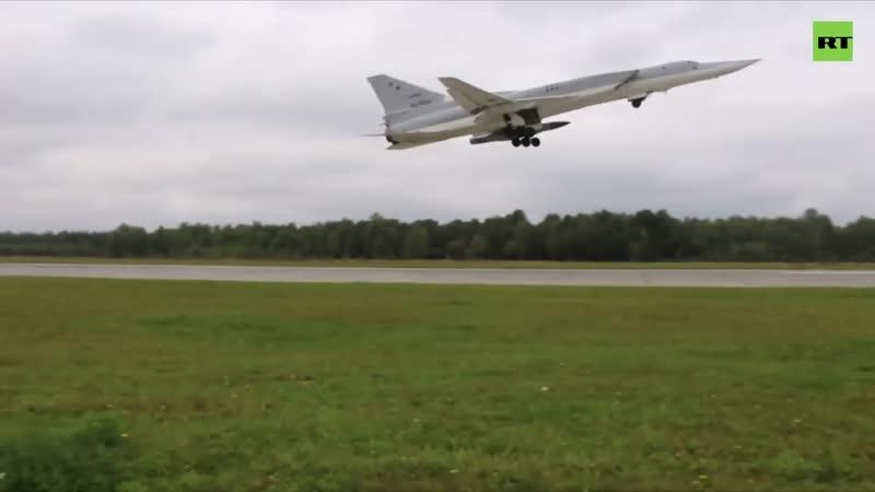 Полёт дальних бомбардировщиков Ту - 22М3 над нейтральными водами Чёрного моря