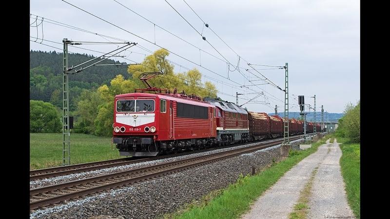 Tonnenschwerer Trafotransport Lü Dora, Günni Güterzug als Schiebelok uvm. auf der Frankenwaldbahn