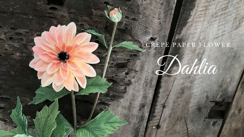 How To Make Dahlia Flower By Crepe Paper/ Cách Làm Hoa Thược Dược Từ Giấy Nhún/ HOA VÔ ƯU