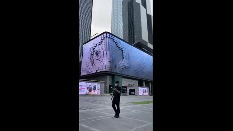 Цифровой экран. Сеул, Южная Корея