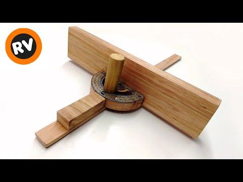 ✔️ EFICAZ ➡️ GUIA para CORTES en ANGULO INGLETE - Accesorio sierra de mesa | MITER GAUGE TABLE SAW